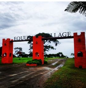The sign at the entrance of Equus Village, Pedasi Panama – Best Places In The World To Retire – International Living