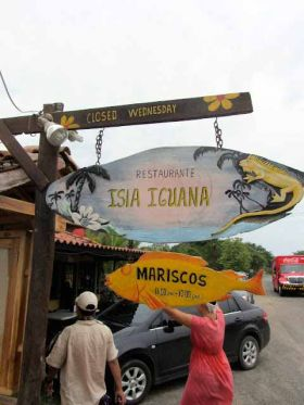 Sign of Isle Iguana Restaurant, Pedasi Panama – Best Places In The World To Retire – International Living
