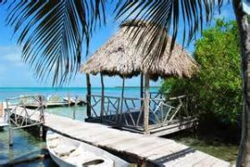 Hut and dock in Belize