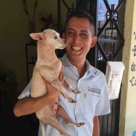 Armando Contreras with dog in Lo de Marcos – Best Places In The World To Retire – International Living
