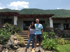 Jet Metier and Chuck Bolotin in Jocotepec home and garden – Best Places In The World To Retire – International Living