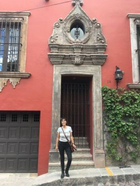 Jet Metier by entryway in San Miguel de Allende – Best Places In The World To Retire – International Living