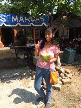 Jet Metier enjoying a coconut on the road to Nayarit – Best Places In The World To Retire – International Living