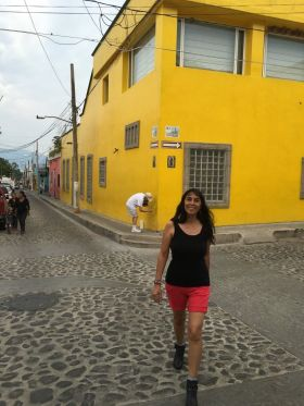 Jet Metier walking on a street in Ajijic – Best Places In The World To Retire – International Living