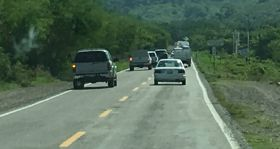Multiple cars passing on road to Lo de Marcos, Nayarit, Mexico – Best Places In The World To Retire – International Living