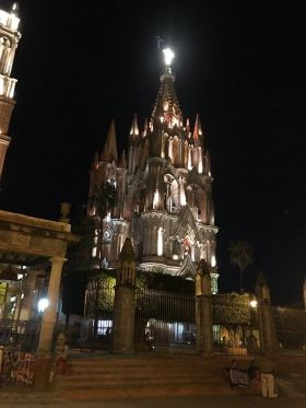 Parroquia of San Miguel de Allende at night – Best Places In The World To Retire – International Living