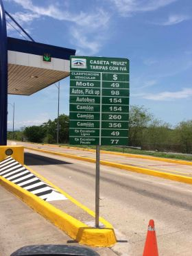 Sign on toll road south of Mazatlan – Best Places In The World To Retire – International Living