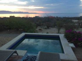 View from the pool looking out towards sea of Cortez from La Ventana, Baja California Sur – Best Places In The World To Retire – International Living