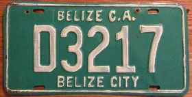 Taxi plate, Belize City – Best Places In The World To Retire – International Living