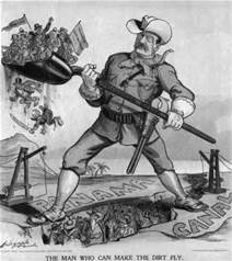 Cartoon of President Theodore Roosevelt building the Panama Canal, pictured – Best Places In The World To Retire – International Living