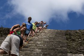 Climbing the Mayan pyramids around Orchid Bay, Belize – Best Places In The World To Retire – International Living