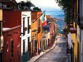 Cobblestone street in San Miguel de Allende, Mexico – Best Places In The World To Retire – International Living