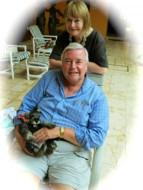 Dorianne and John Venator with puppy, Vallodolid, Mexico – Best Places In The World To Retire – International Living