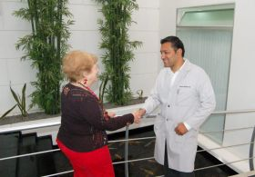 Dr. Santiago Hernandez greets an expat patient, Chapala, Mexico – Best Places In The World To Retire – International Living