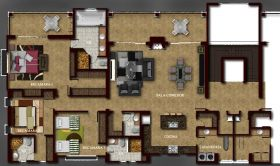 Floor plan for a model home at Boqueta Alta Condominiums, Boquete, Panama – Best Places In The World To Retire – International Living