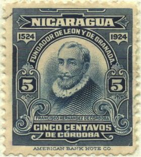 Francisco Hernandez de Cordoba commenorative stamp, founding of Granada and Leon, Nicaragua – Best Places In The World To Retire – International Living