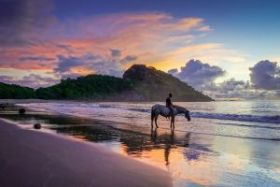 horse and rider on beach, Gigante, Tola, Nicaragua – Best Places In The World To Retire – International Living
