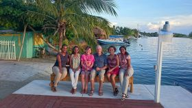 Hosts and guests at a housewarming party, La Placencia, Belize – Best Places In The World To Retire – International Living
