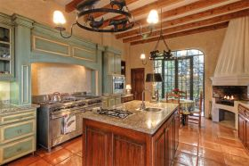 Kitchen with a fireplace, San Miguel de Allende, Mexico – Best Places In The World To Retire – International Living
