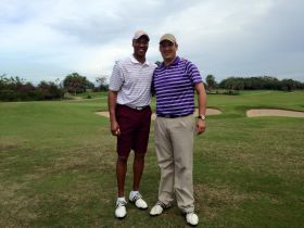 Los Angeles Lakers head basketball coach Byron Scott  at Vista Vallarta Club de Golf Director of Golf David Quiroz in Puerto Vallarta Mexico  – Best Places In The World To Retire – International Living