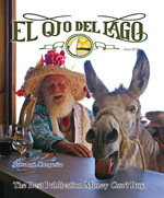 Man with a straw hat on the cover of El Ojo del Lago magazine – Best Places In The World To Retire – International Living
