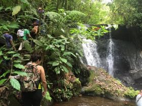 Marissa Lolk hiking along a waterfall in Nicaragua – Best Places In The World To Retire – International Living