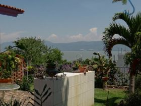 Outdoor sink and kitchen overlooking Lake Chapala, Mexico – Best Places In The World To Retire – International Living