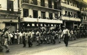 Panana police marching in a parade in Panama City, Panama 1945 – Best Places In The World To Retire – International Living