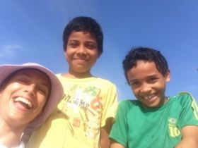 Patrizia Pinzon with kids of Casco Viejo, Panama – Best Places In The World To Retire – International Living
