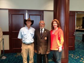 Phil and Karen with the Governor General of Belize at the Belize Travel and Trade Show in Fort Lauderdale, Florida – Best Places In The World To Retire – International Living