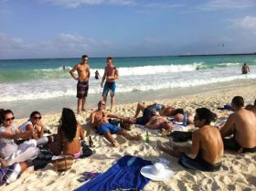 Poker players lazing on the beach at Playa del Carmen, Yucatan, Mexico – Best Places In The World To Retire – International Living