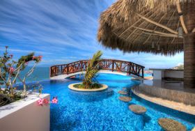 Pool overlooking the romantic zone  in an apartment hotel, Puerto Vallarta, Mexico – Best Places In The World To Retire – International Living