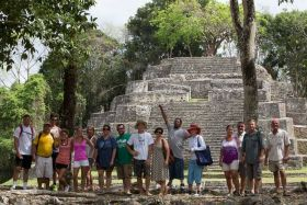 Residents of Orchid Bay exploring the Mayan ruins near Corozal, Belize – Best Places In The World To Retire – International Living