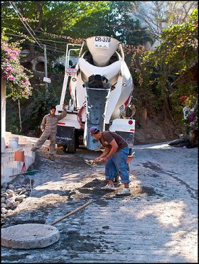 Road work on a cobblestone street, Puerto Vallarta, Mexico – Best Places In The World To Retire – International Living