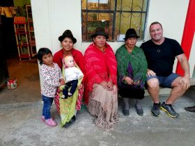 Ross with new found Quechua friends in Ecuador – Best Places In The World To Retire – International Living