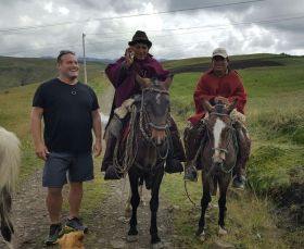 Ross with new friends found in the Andes in Ecuador – Best Places In The World To Retire – International Living