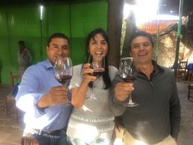 Sharing a glass of wine at the hacienda restaurant Rojo Vivo – Best Places In The World To Retire – International Living