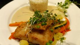 Sprouted greens on sea bass at Vanilla Hills Lodge, Cayo, Belize – Best Places In The World To Retire – International Living