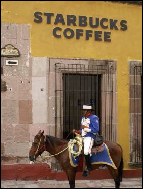 Starbucks with police on horseback, Mexico – Best Places In The World To Retire – International Living