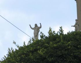 Statue of Jesus Christ near an electrical wire, Casco Viejo, Panama – Best Places In The World To Retire – International Living