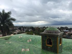Steeple in Ajijic with view of Lake Chapala, Ajijic, Mexico – Best Places In The World To Retire – International Living
