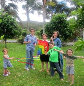 The Gilbert family enjoying the windy season near Bouquete, Panama – Best Places In The World To Retire – International Living