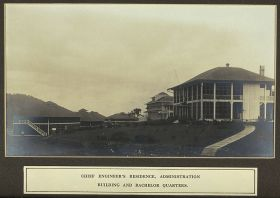 1910 picture of The Panama Canal Zone chief engineer's residence administration building and staff quarters (left), Ancon, Panama – Best Places In The World To Retire – International Living