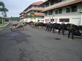 American Marines in physcial training exercise at US Embassy, Clayton, Panama – Best Places In The World To Retire – International Living