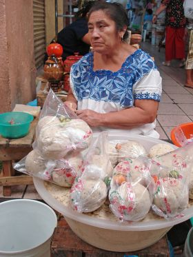 Woman in native dress selling pozole, Yucatan, Mexico – Best Places In The World To Retire – International Living
