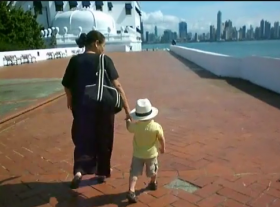 grandson with nanny on casco viejp seawall – Best Places In The World To Retire – International Living