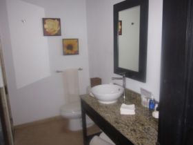 Renovated condo bathroom in Ambergris Caye, Belize – Best Places In The World To Retire – International Living