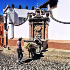 A man with his burro, San Miguel de Allende, Mexico