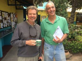 Ben White at Lake Chapala Society LCS and Chuck Bolotin