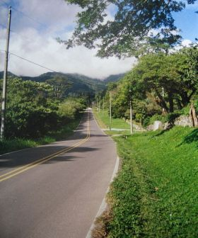 Boquete Panama empty street stretching to mountain in suburban area – Best Places In The World To Retire – International Living